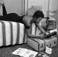 Maya Angelou lounges