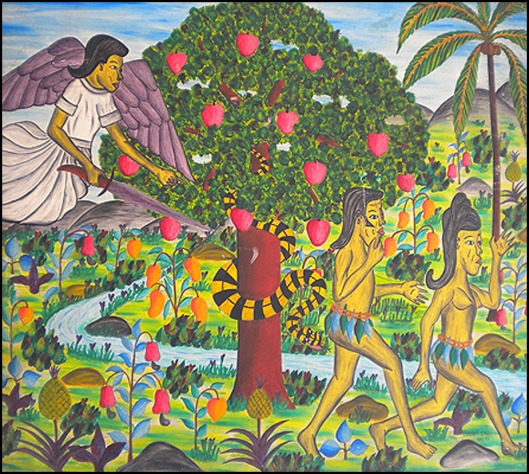 Adam Eve leave the garden_Lucien Saul